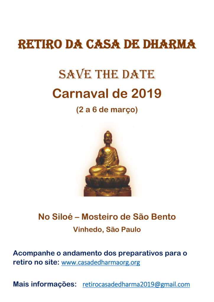 SAVE THE DATE - Retiro Carnaval 2019